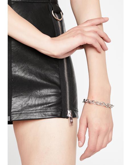 Link Ya L8R Chain Bracelet