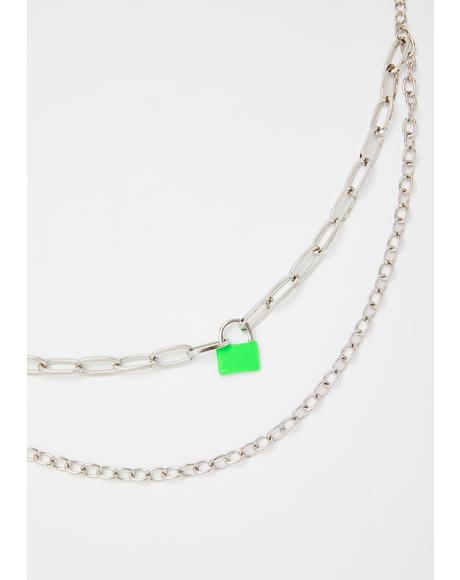 Atomic Lockdown Chain Necklace