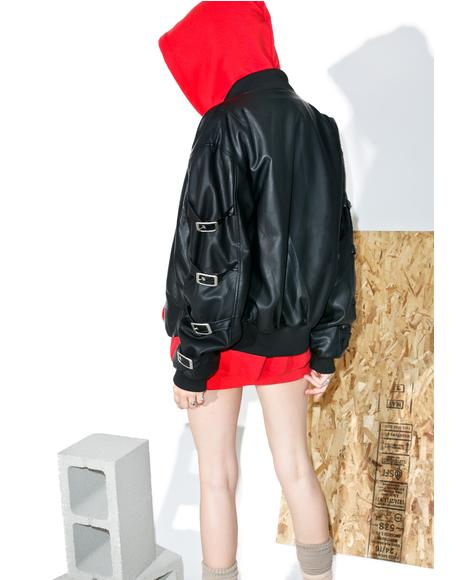 Lolly Pop Buckled Bomber Jacket