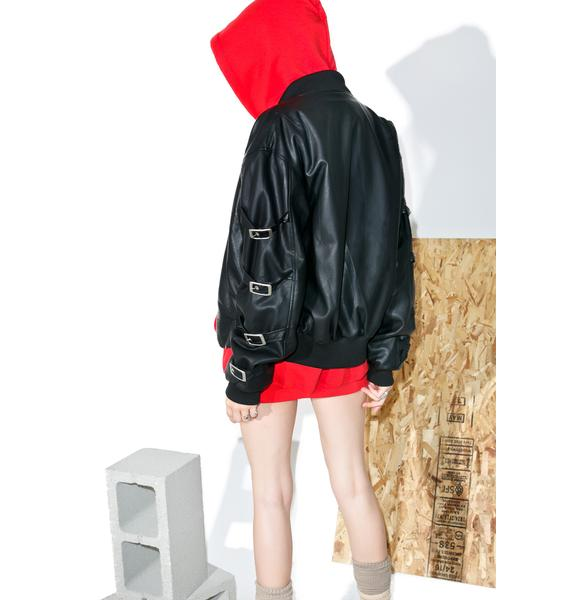 Hardware LDN Lolly Pop Buckled Bomber Jacket