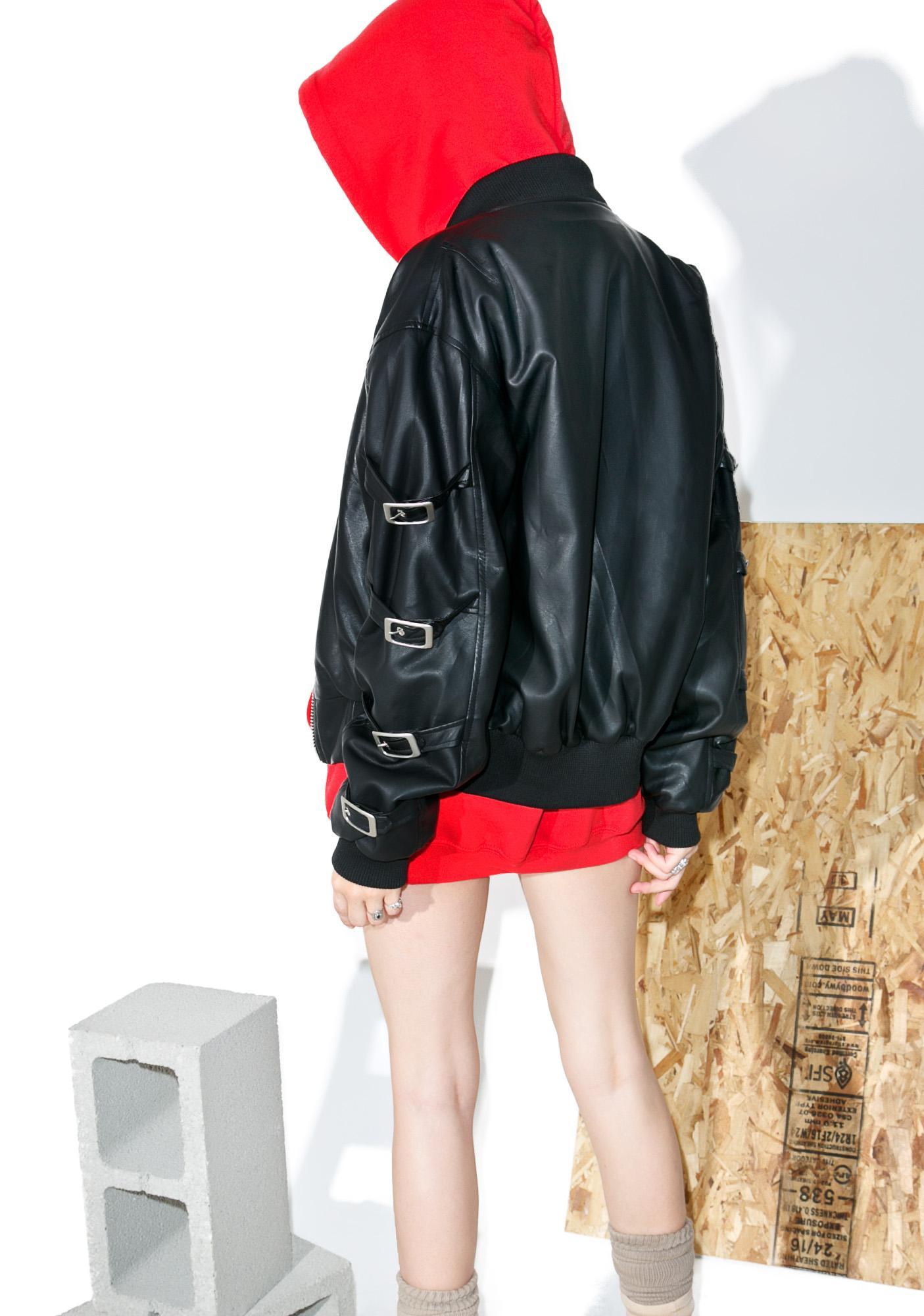 Hardware LDN Lolly Pop Buckled Bomber Jacket