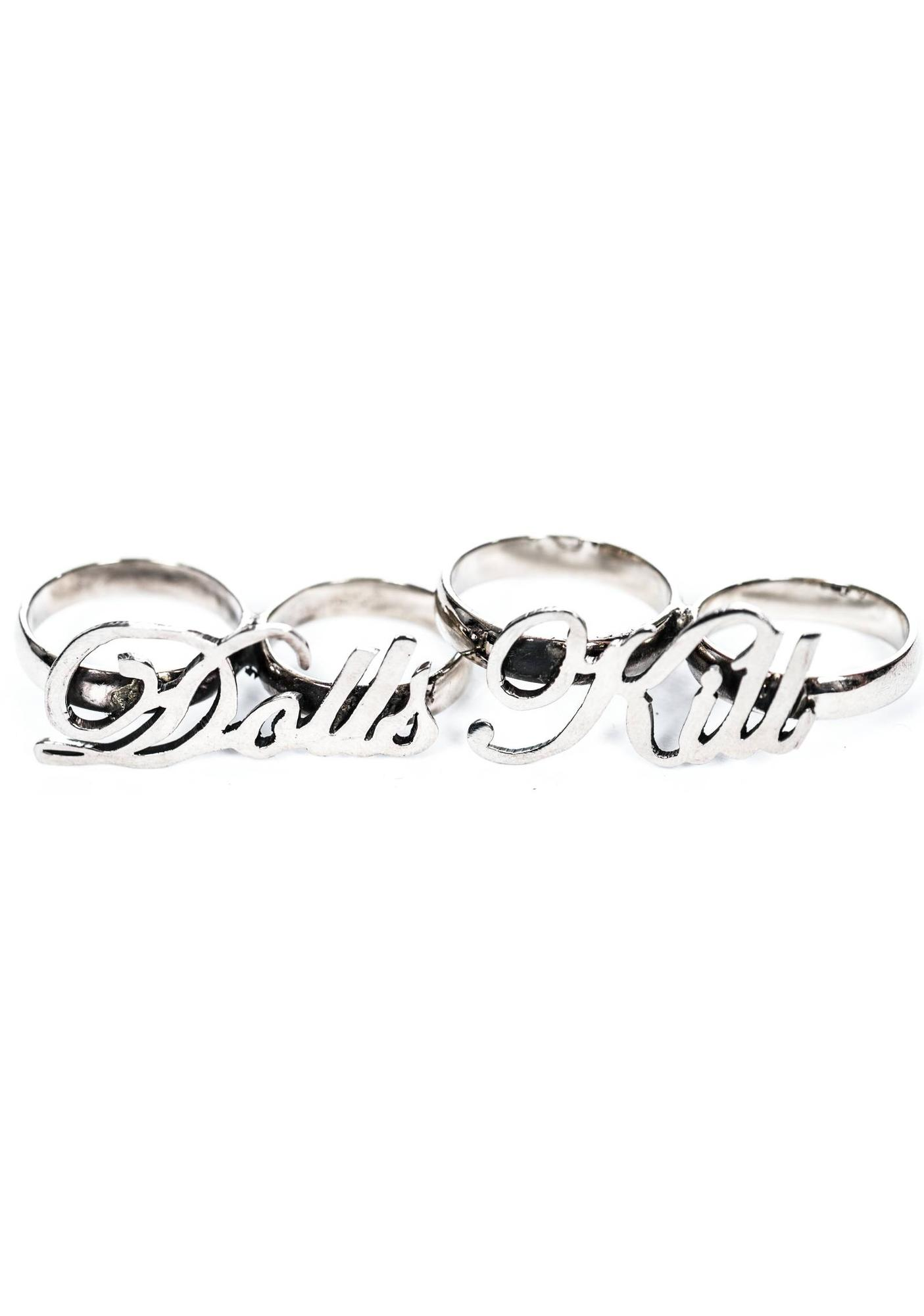 """Dolls Kill"" Knuckle Duster Ring Set"