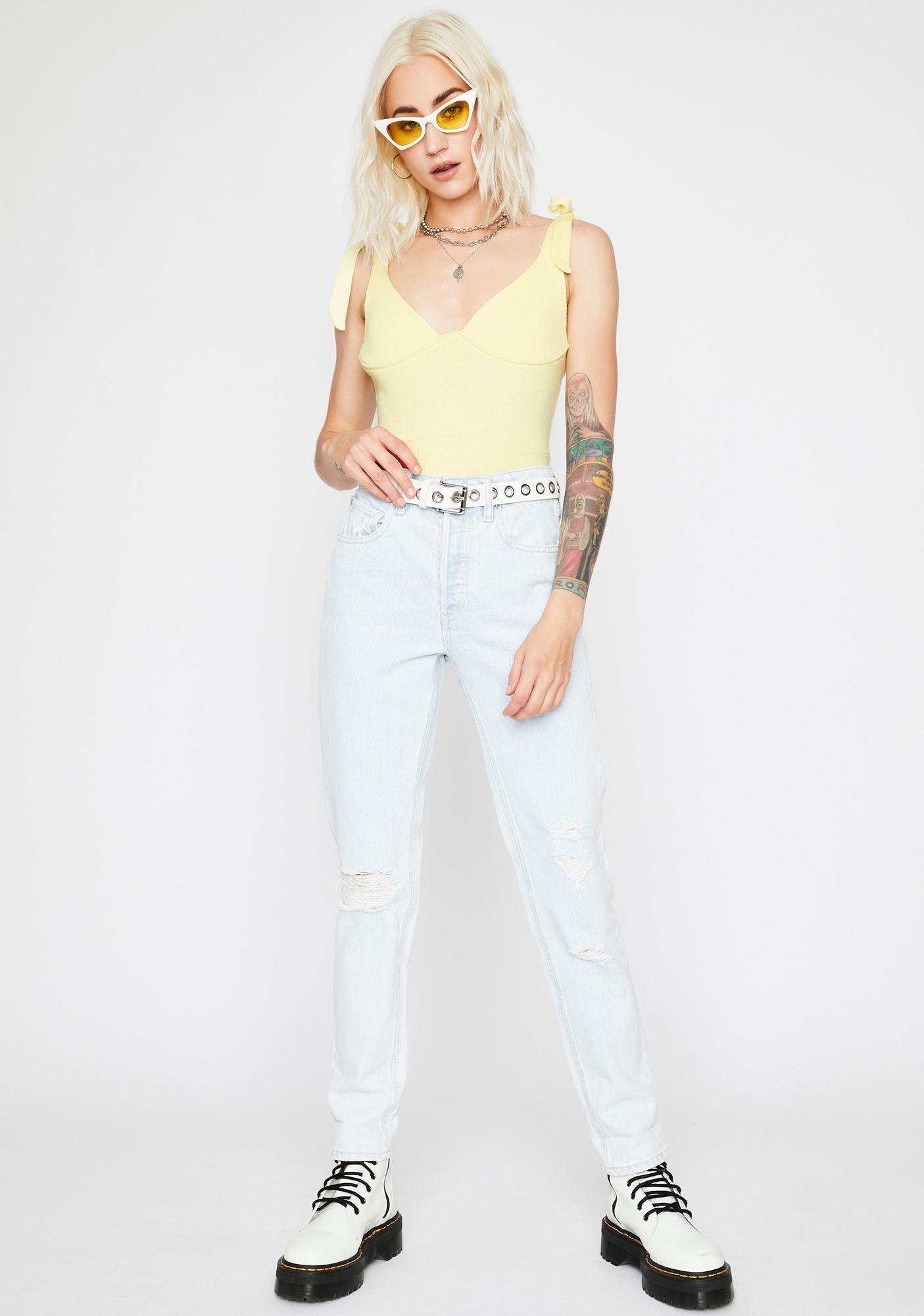 Honey Bun Knit Bodysuit