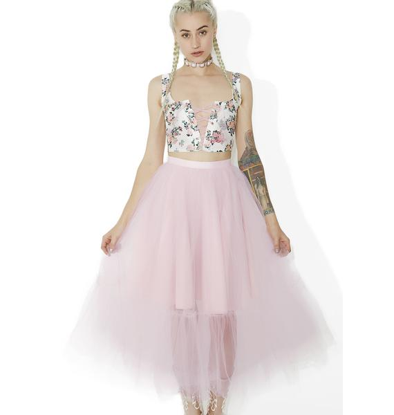 Party Time Tulle Midi Skirt
