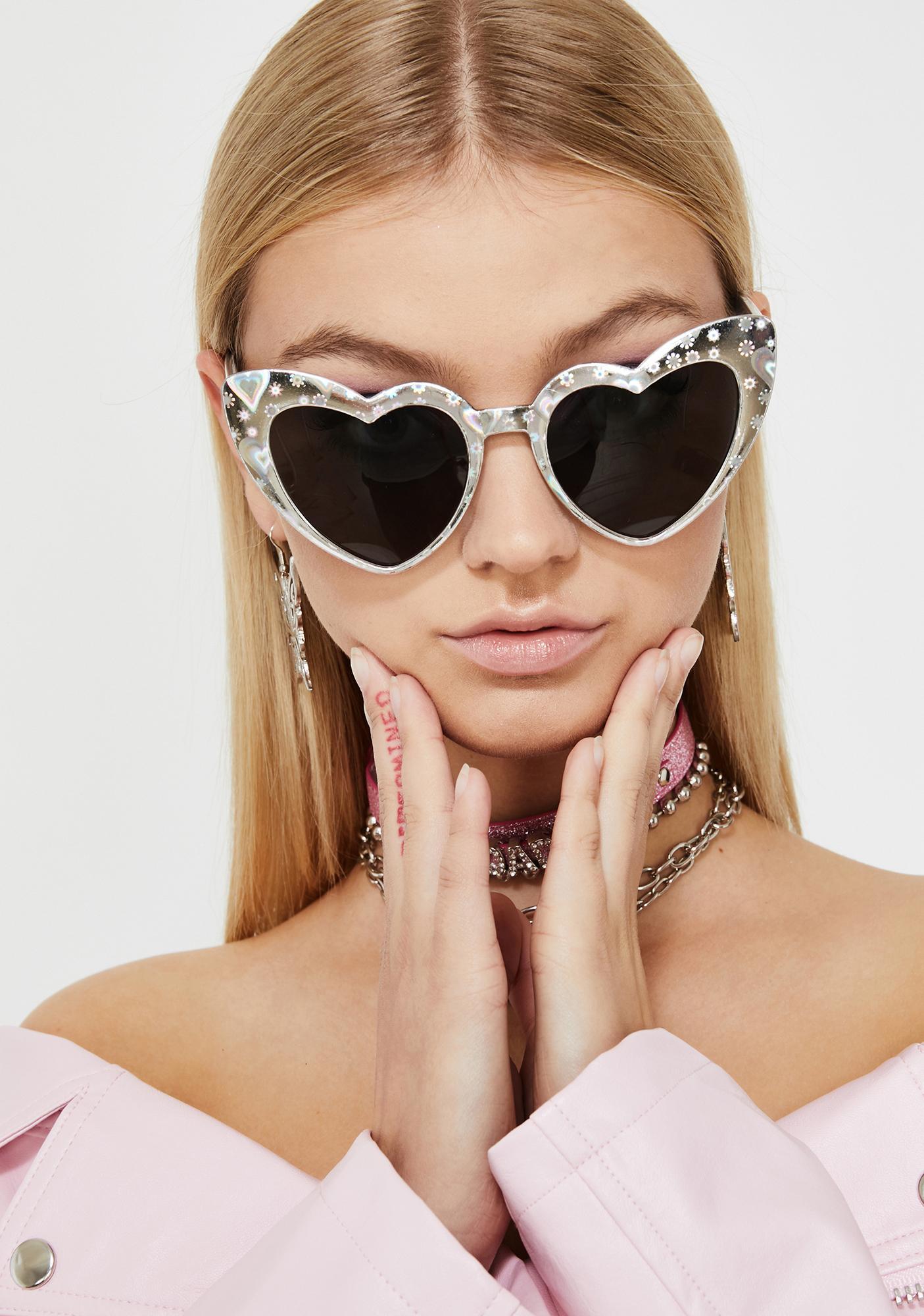 Platinum Lady Lova Heart Sunglasses