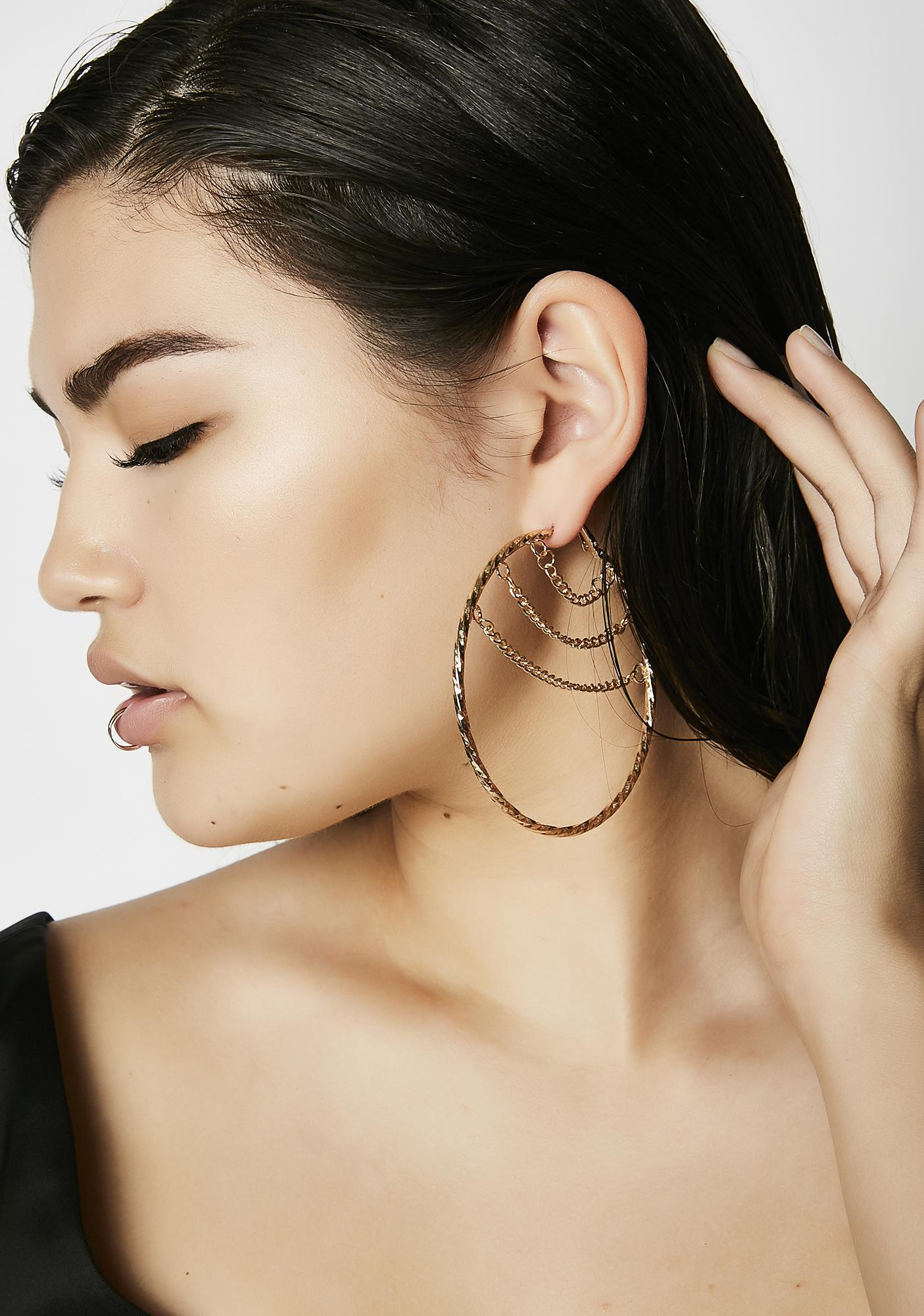 Chained 2 U Earrings
