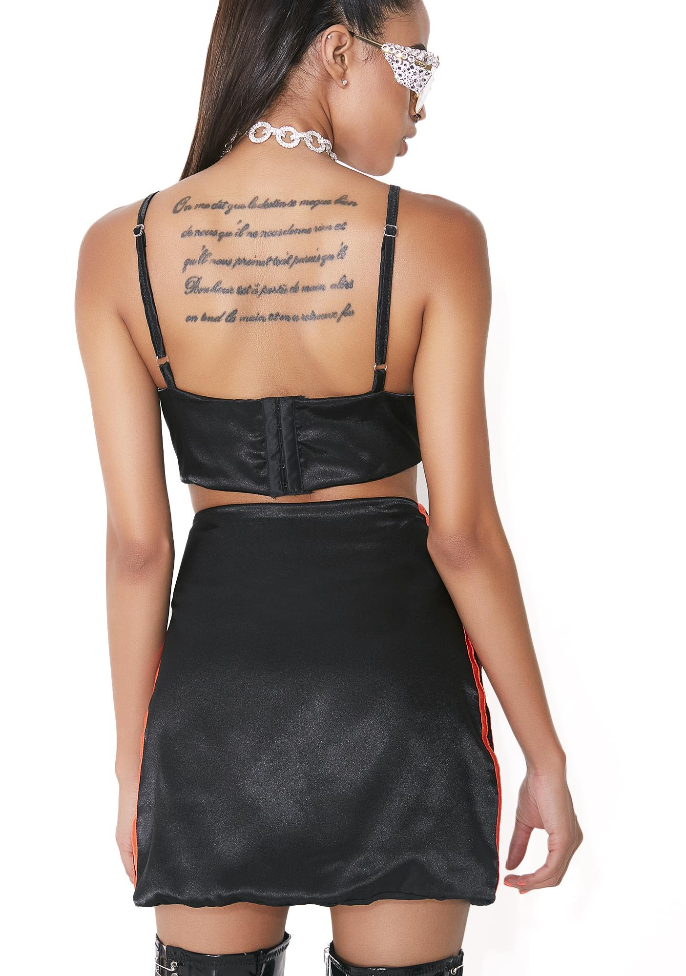 O Mighty Midnight Silk Kitten Skirt