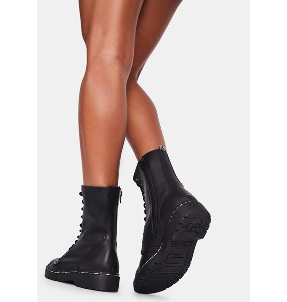 T.U.K. Black 10 Eye Combat Boots