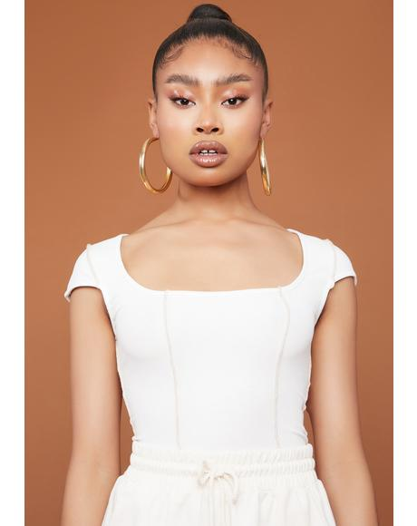Bare Ur Exposed Cap Sleeve Crop Top