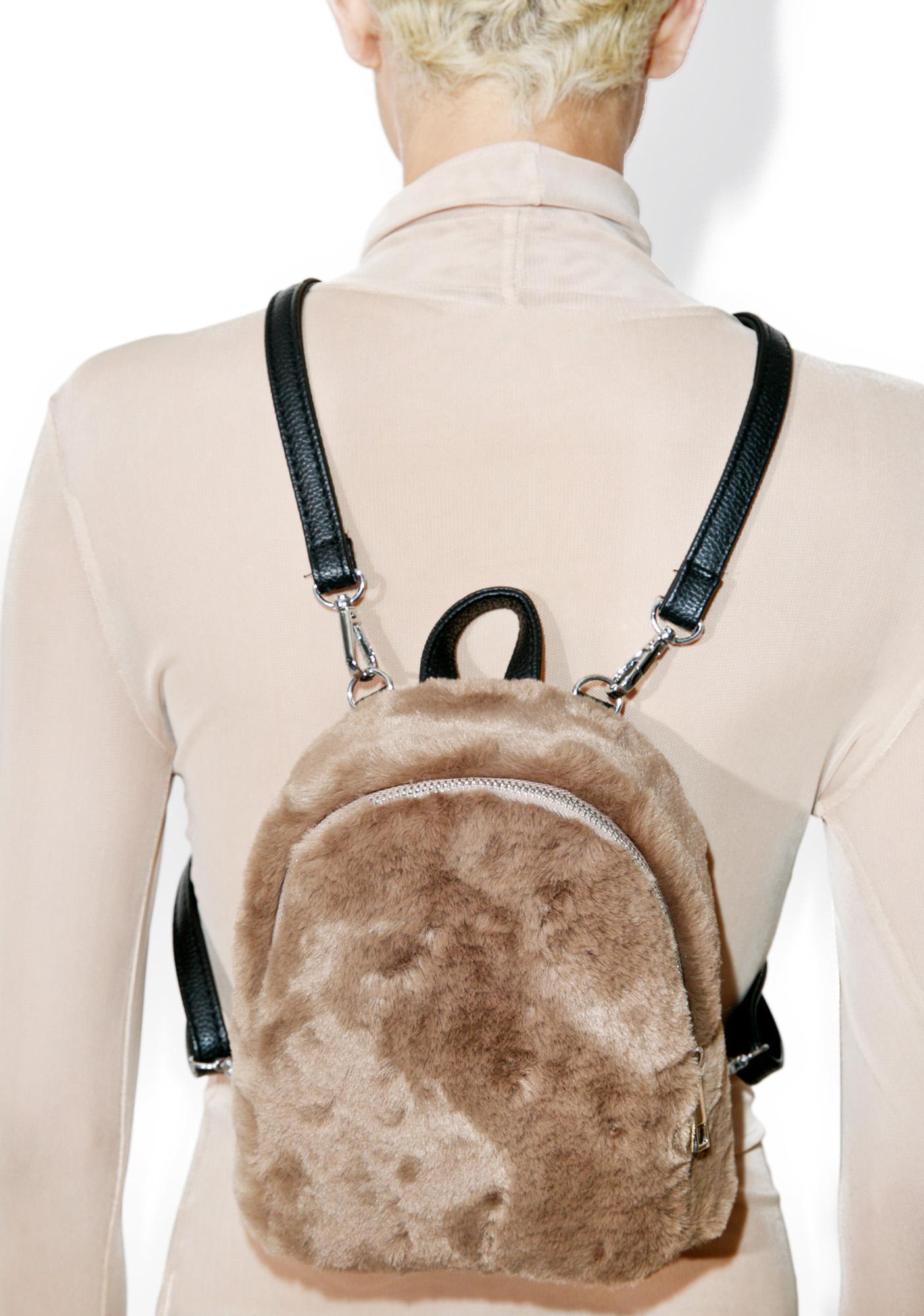 Teddy Faux Fur Backpack   Dolls Kill fdd5899f33