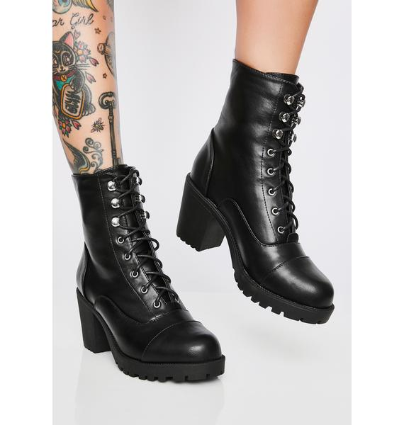 In The Zone Lace-Up Booties