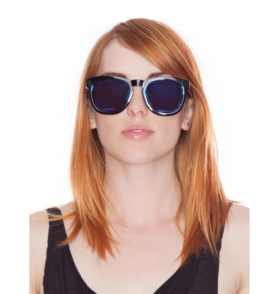 Wildfox Couture Classic Fox Mirror Sunglasses