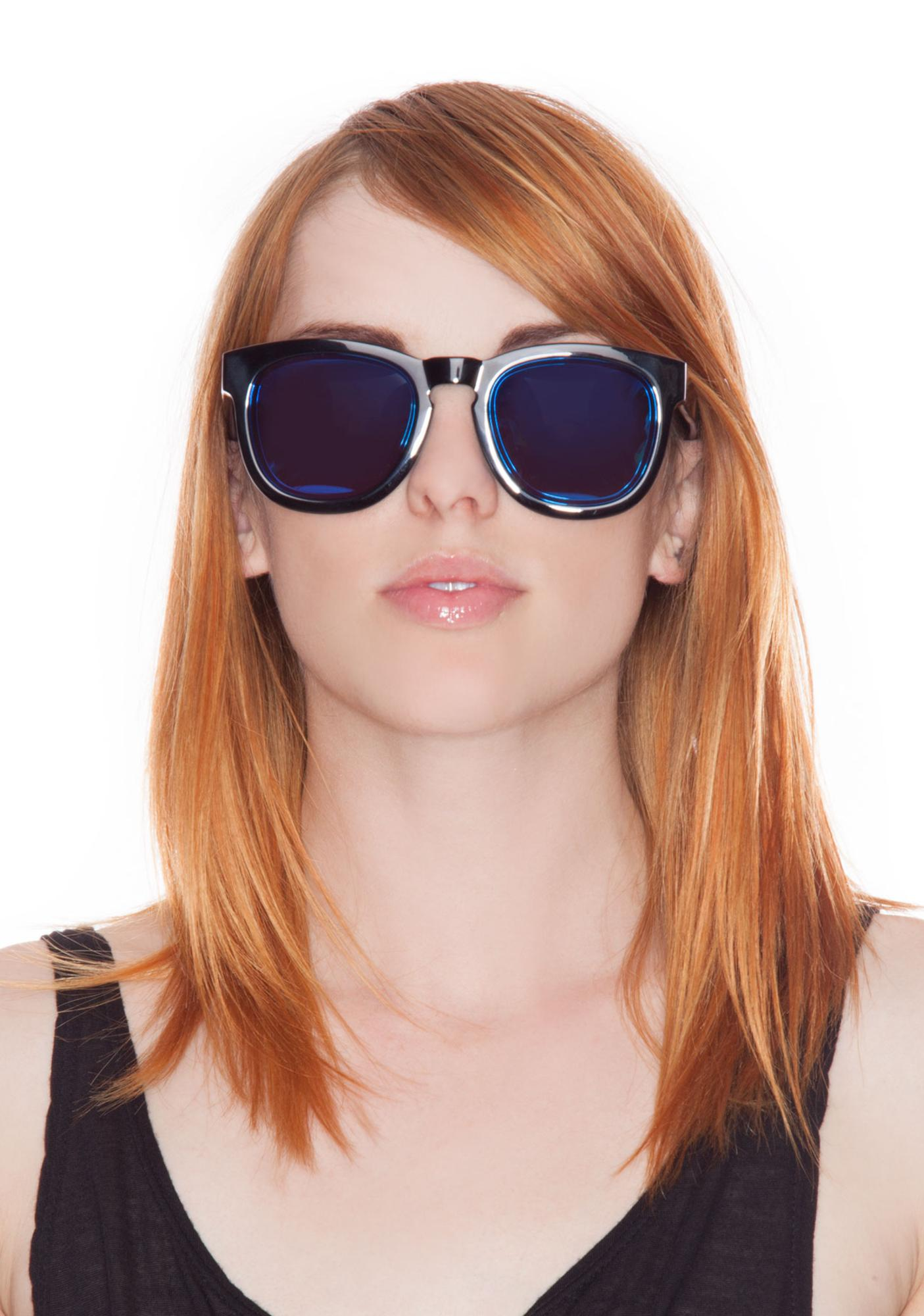 Wildfox Couture Classic Fox Mirror Sunglasses