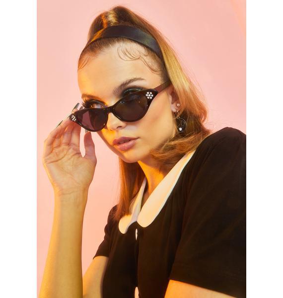 Noir Pretty Fierce Cat Eye Sunglasses