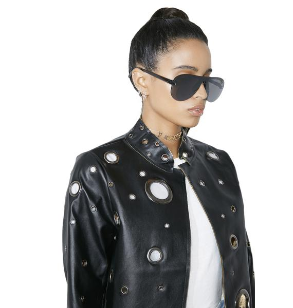 Black Hole Vegan Leather Jacket