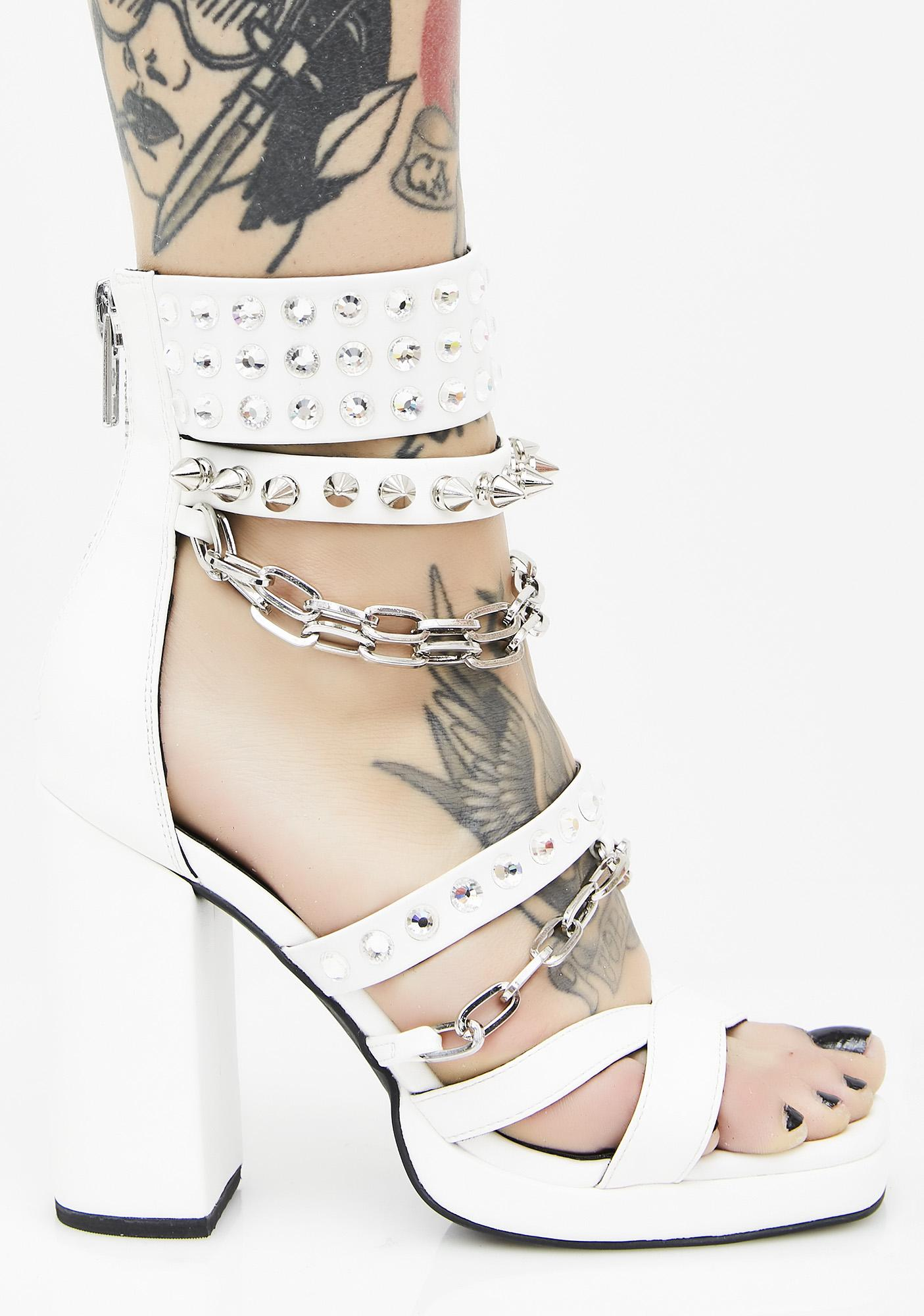 Current Mood Daredevil Chain Heels