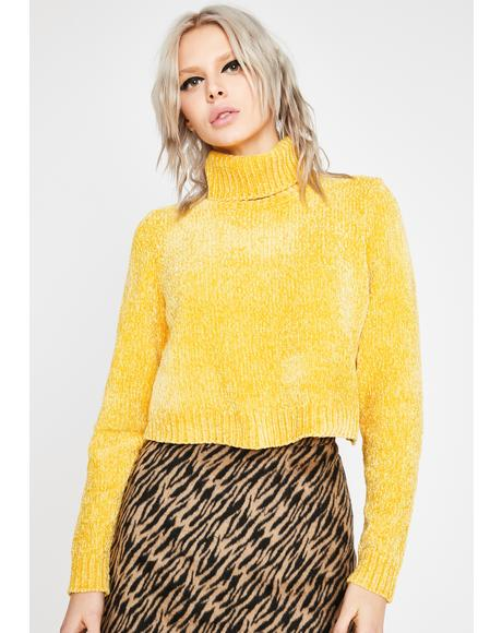 Sunny Soft Spot Cropped Sweater