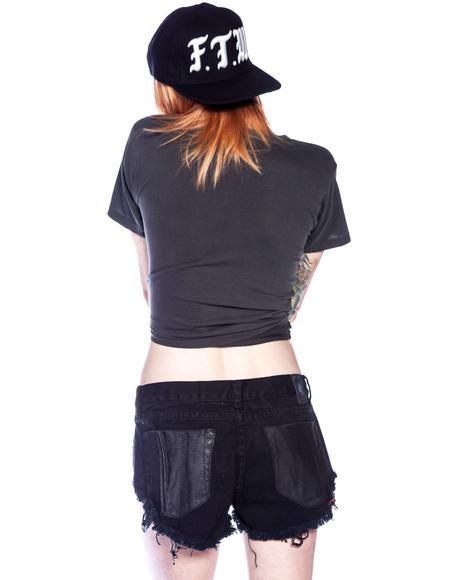 Leather Paneled Bonitas Shorts