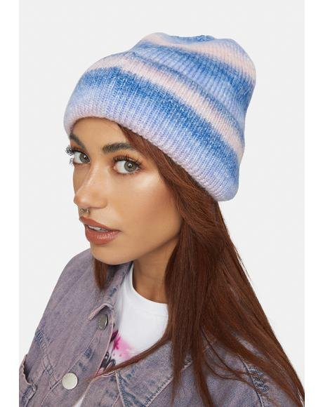 Cotton Candy Second That Emotion Knit Beanie