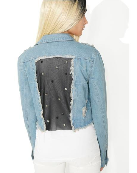 Star Studded Denim Jacket