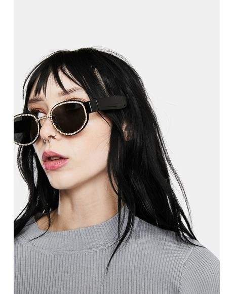 Wicked Heard It All Before Oval Sunglasses