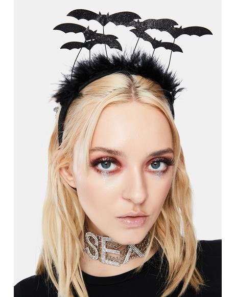 Marabou Swarm of Bats Headband