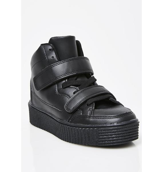 Onyx Steppin' Up Platform Sneakers