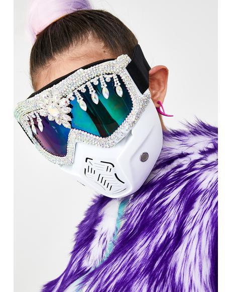 Rhinestone Mask Goggles