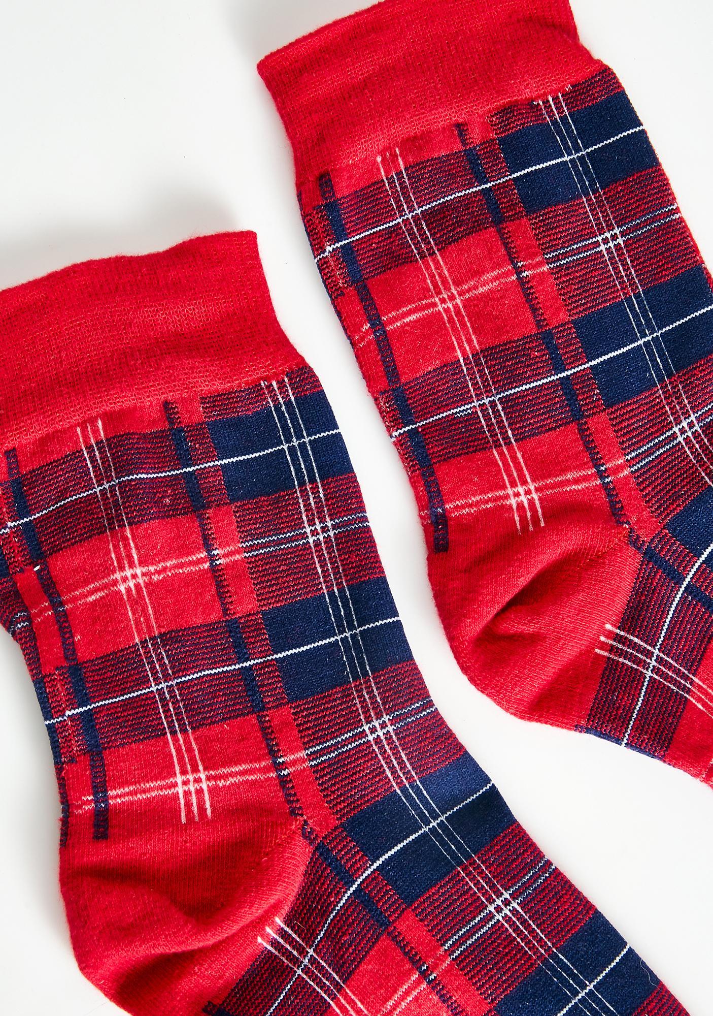 Chadz Plaid Crew Socks