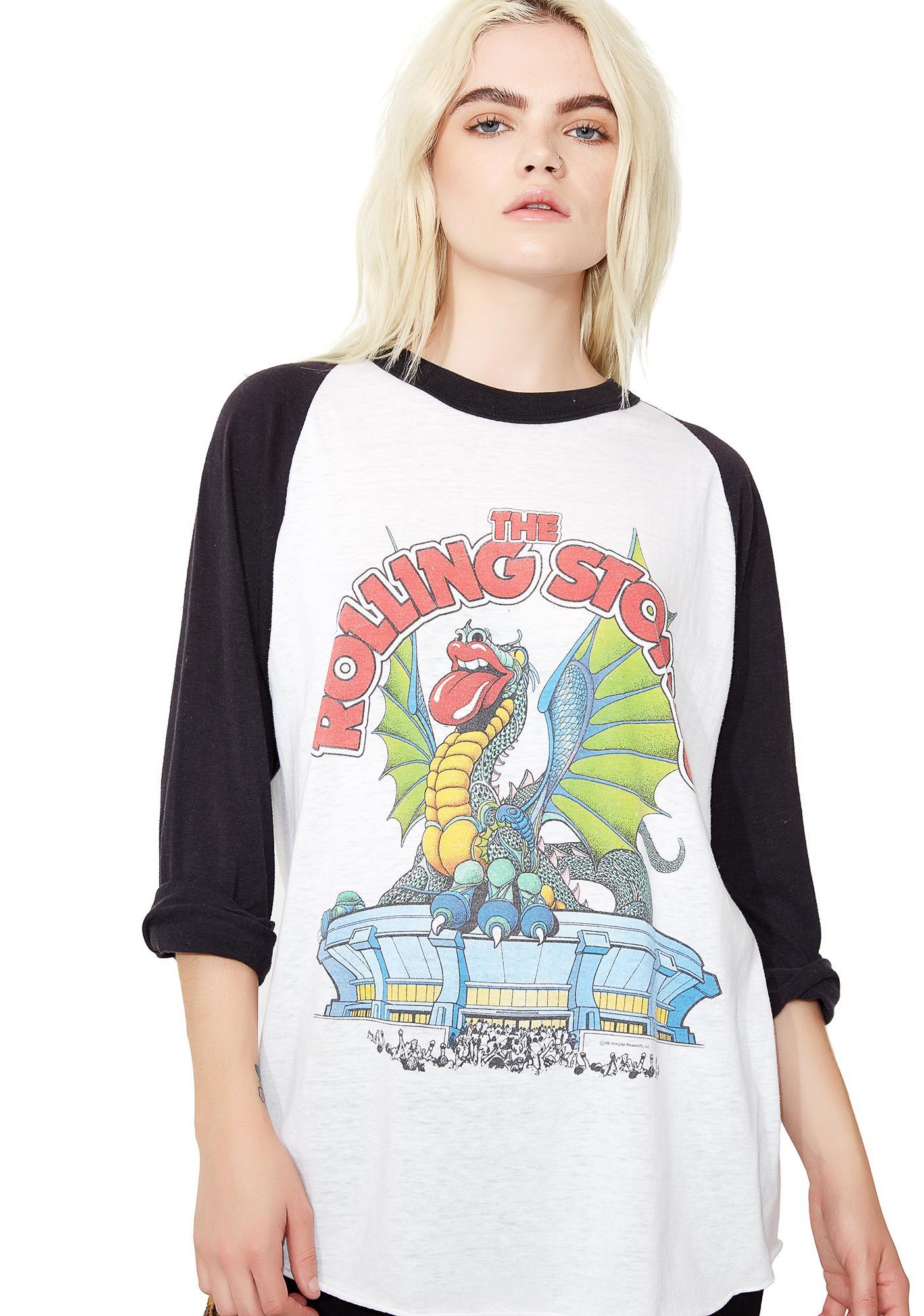 Vintage Rolling Stones Dragon Raglan