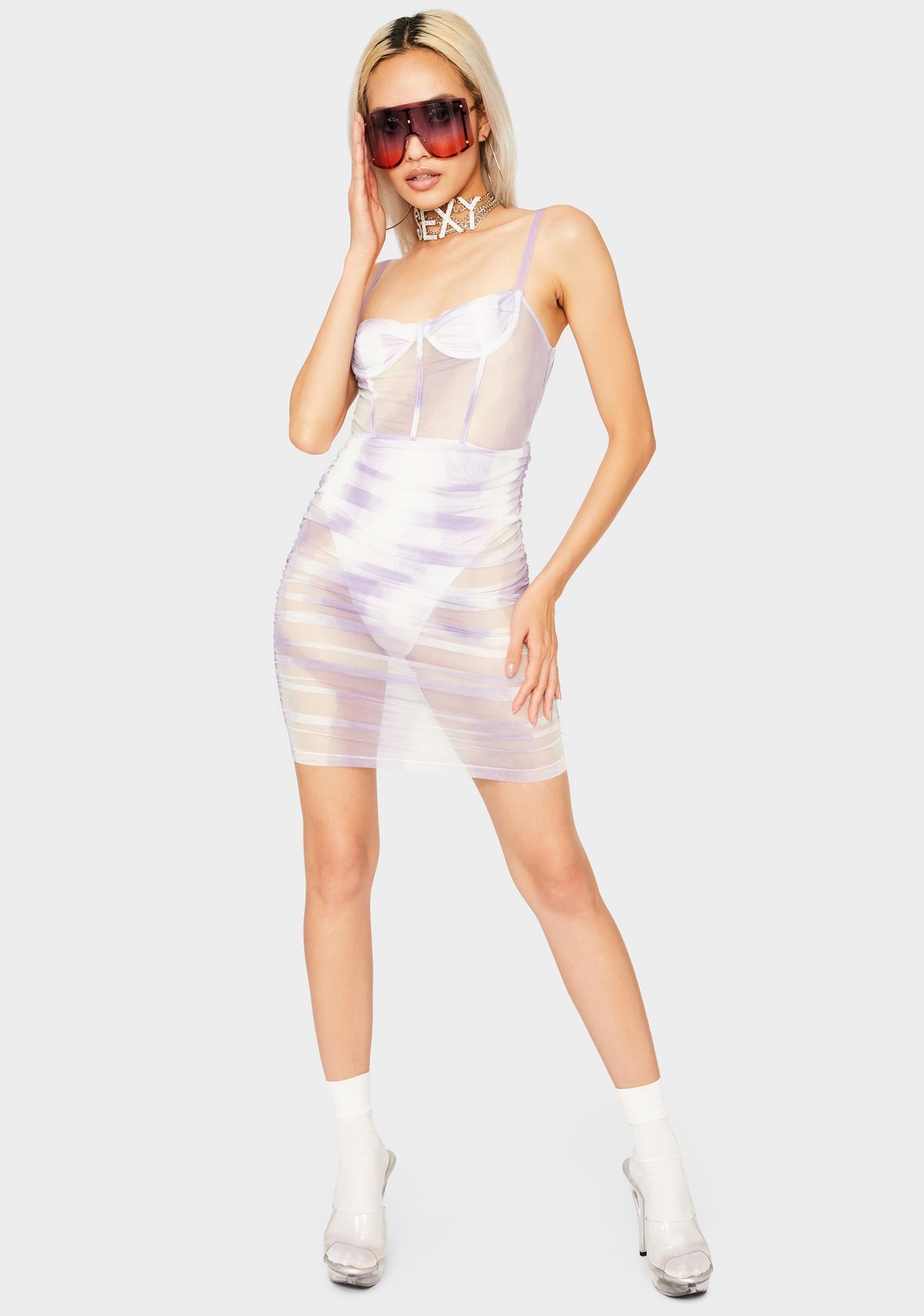 Lilac Boho Dream Bodycon Dress
