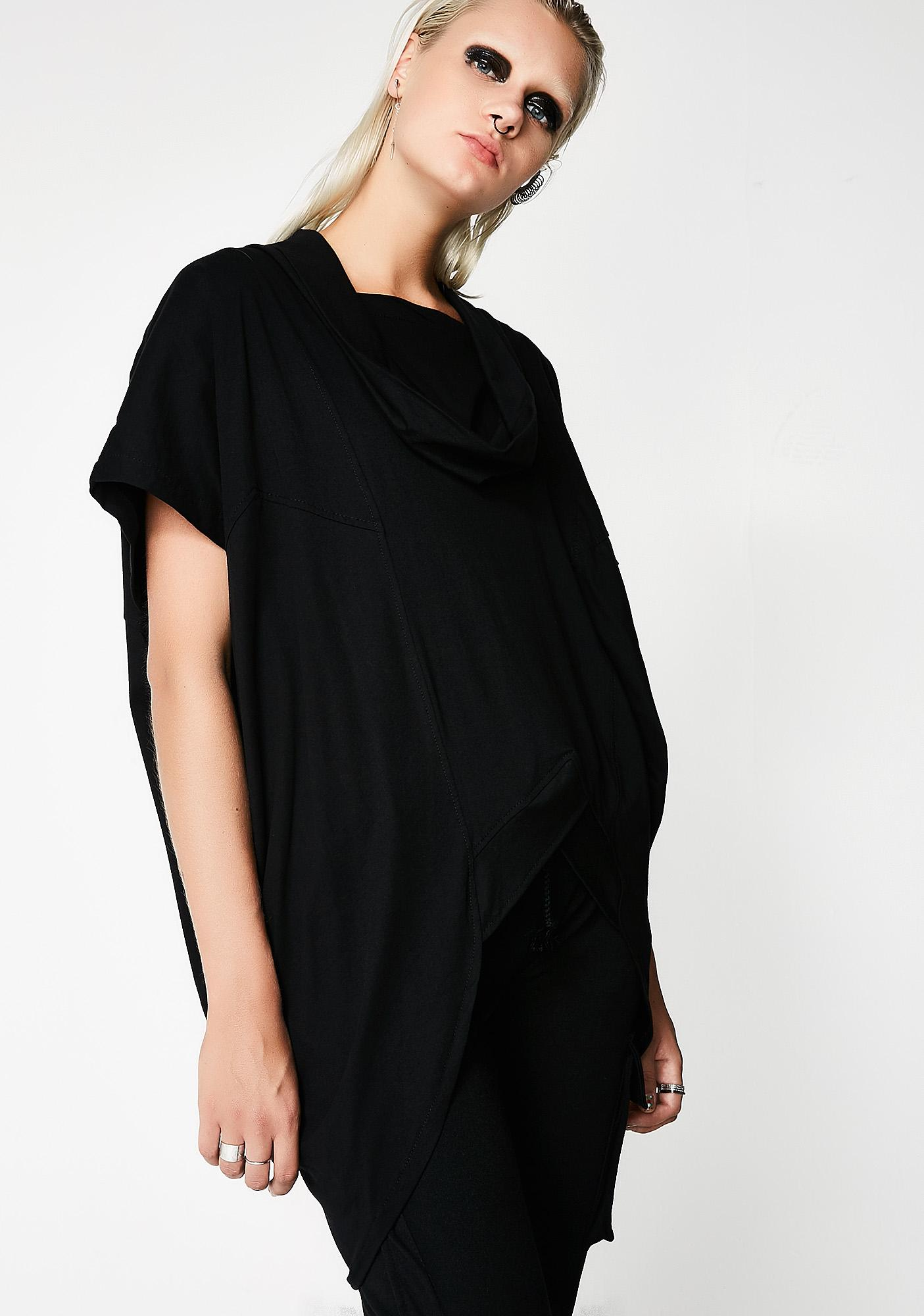MNML Onyx Invictus Cowl Neck Top