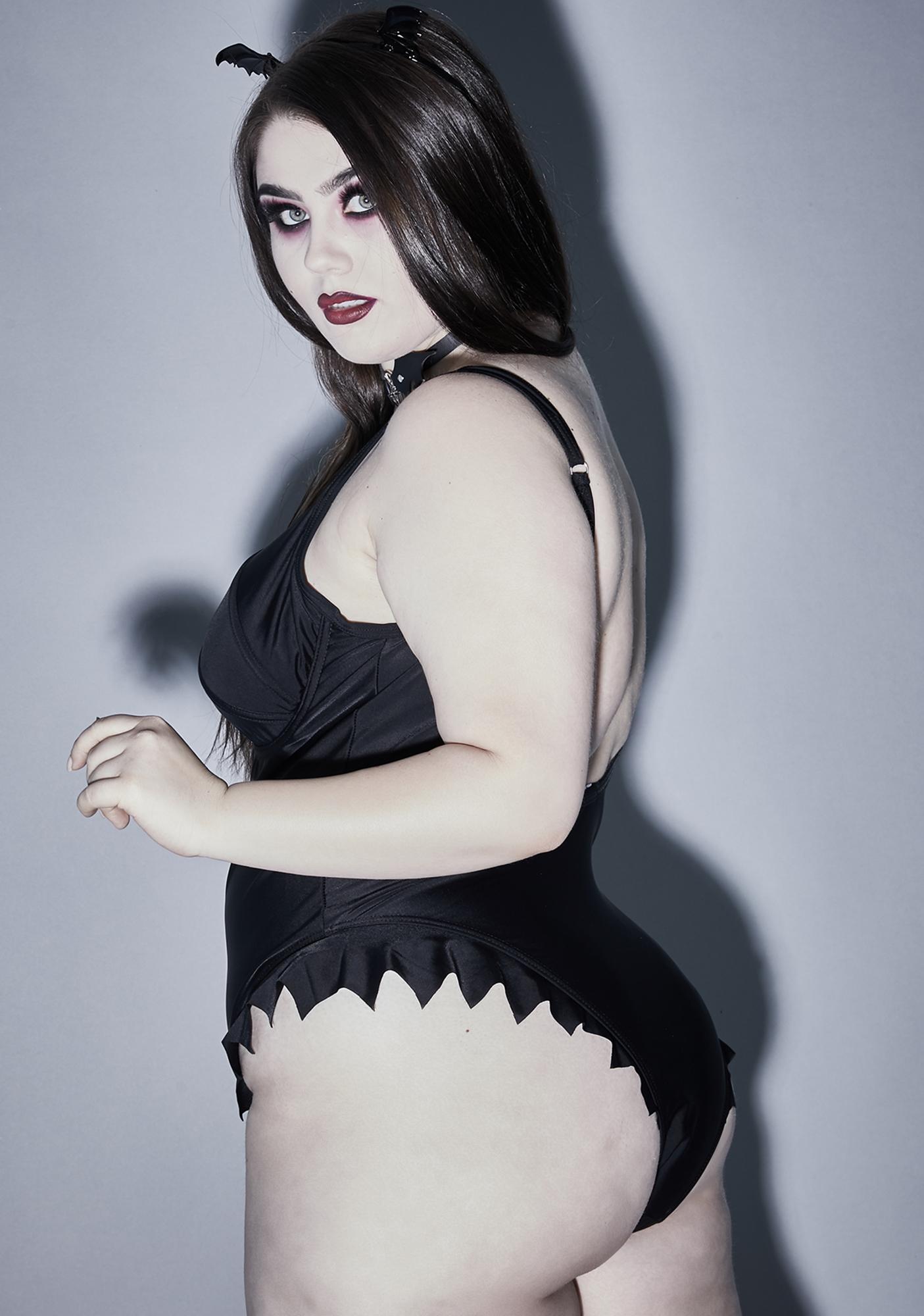 Widow C'mon Call Me Batty One Piece Swimsuit