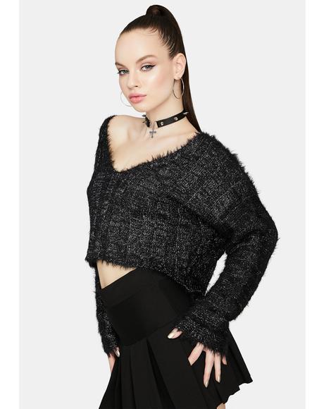 Fuzzy Frenzy Ribbed Sweater