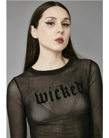 Wicked Mesh Long Sleeve Tee
