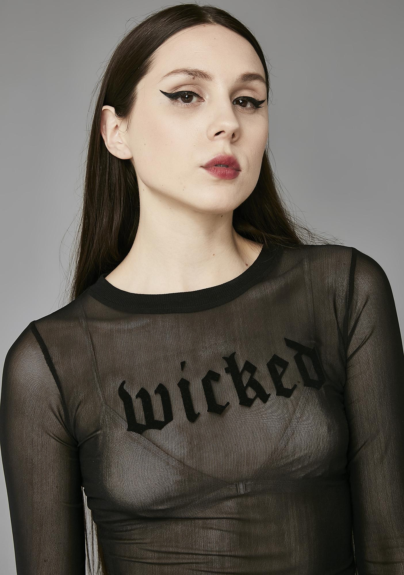 Widow Wicked Mesh Long Sleeve Tee