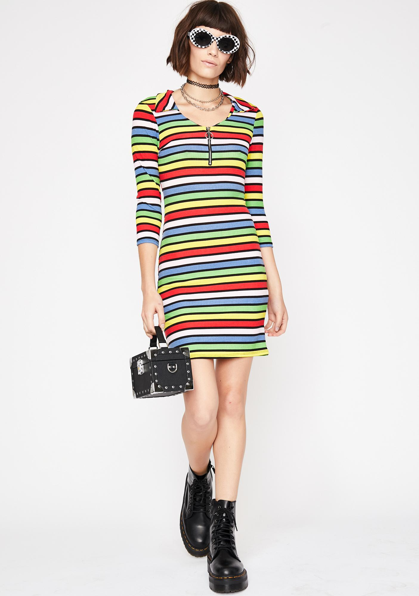 Flash Frenzy Stripe Dress