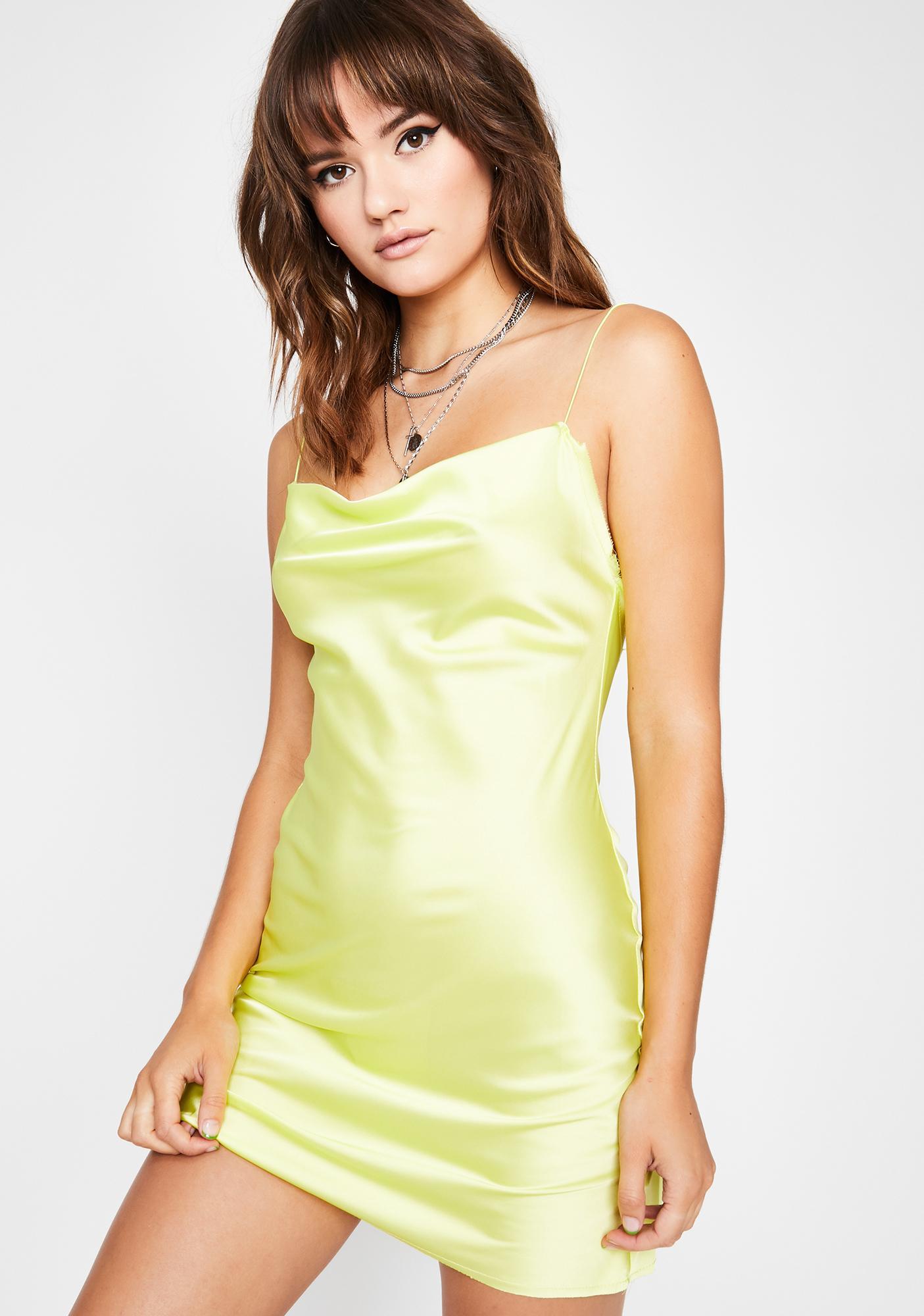 Honey Evening Appeal Satin Dress