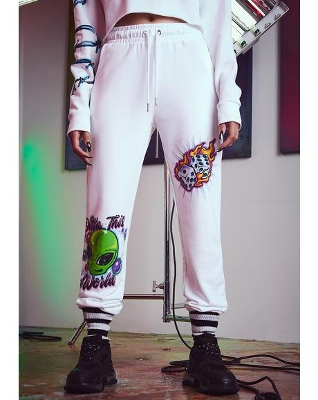 Vibe Check Airbrushed Joggers