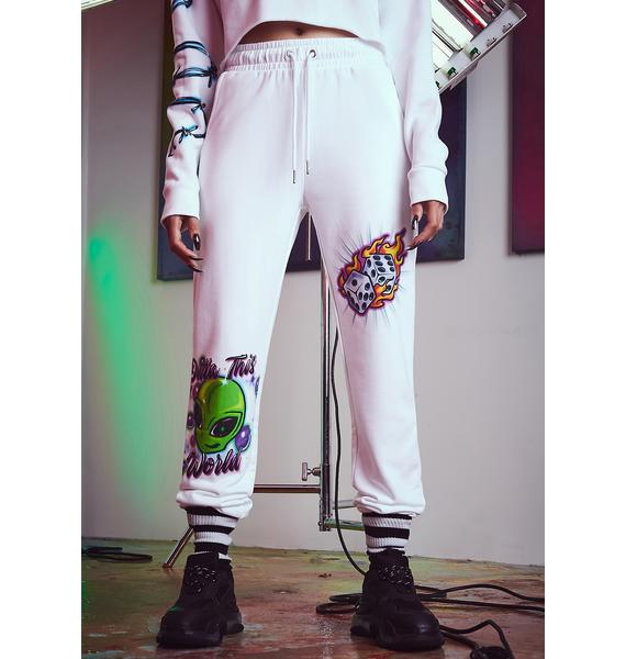 Current Mood Vibe Check Airbrushed Joggers