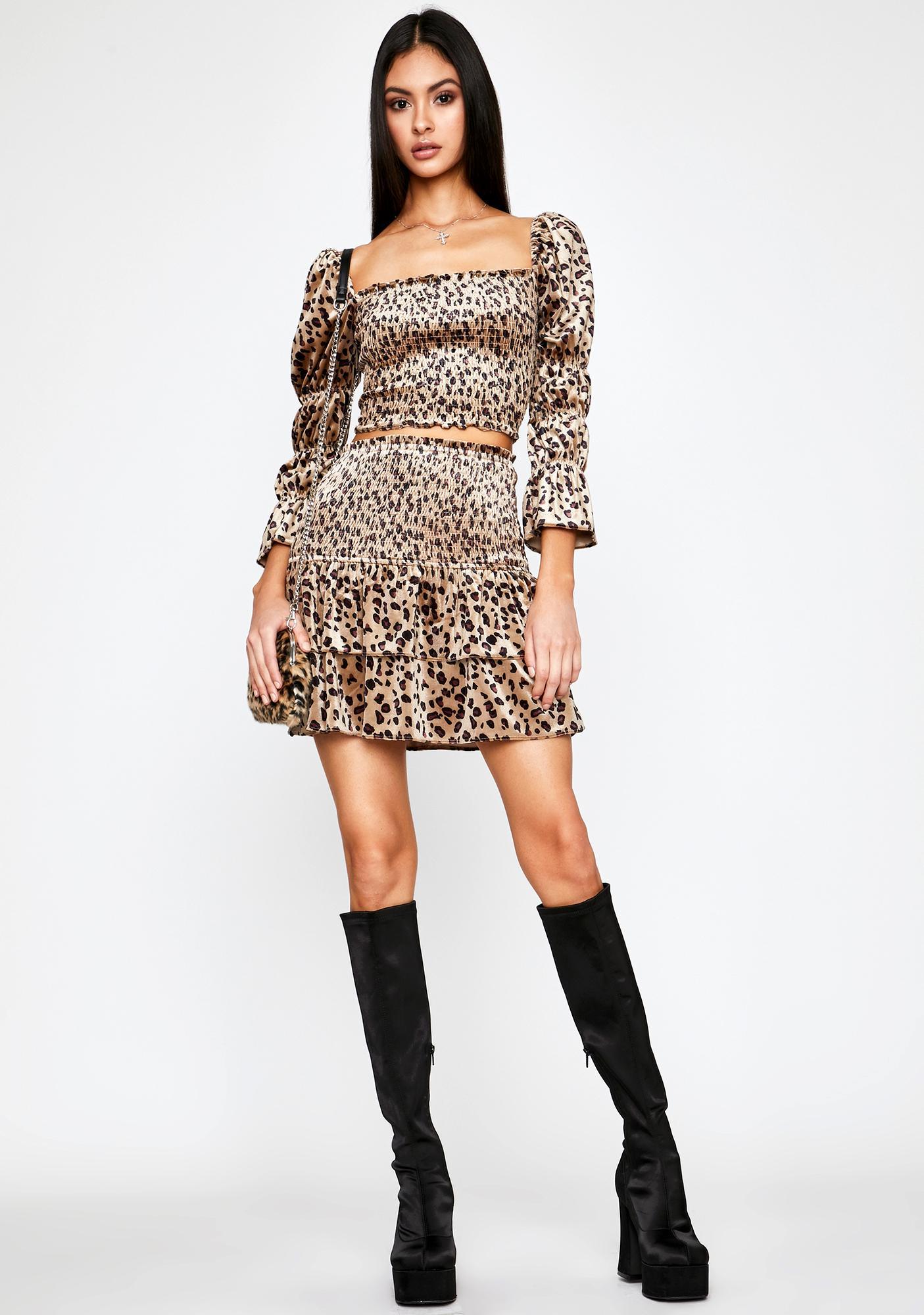Hunt Or Be Hunted Velvet Skirt