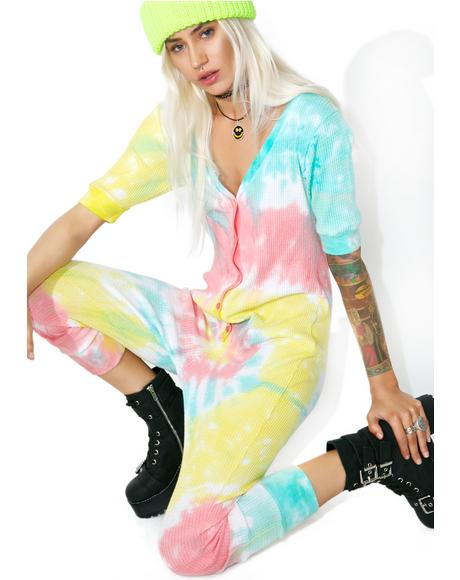 Acid Crush Tie Dye Jumpsuit
