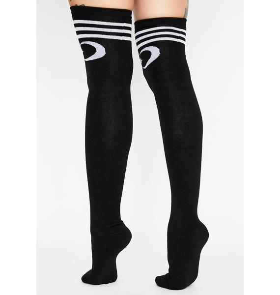 Too Fast The Moon And Stars Thigh Highs