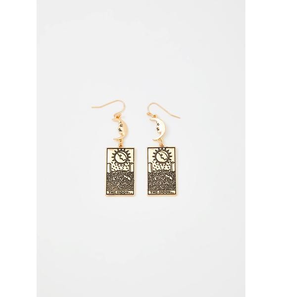 Moonlit Illusion Tarot Card Earrings