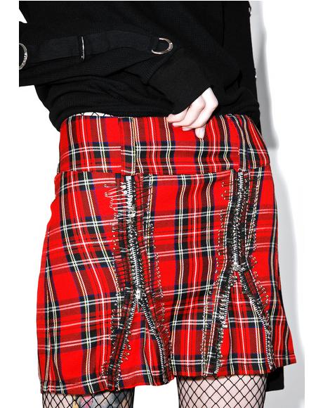 All Over Safety Pin Skirt