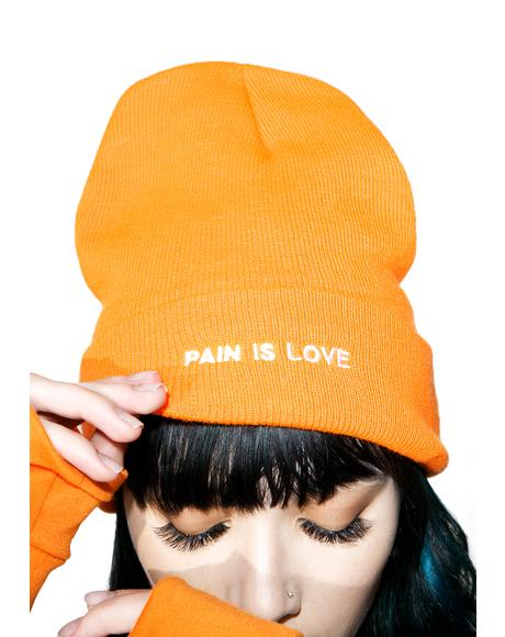 Pain Is Love Beanie