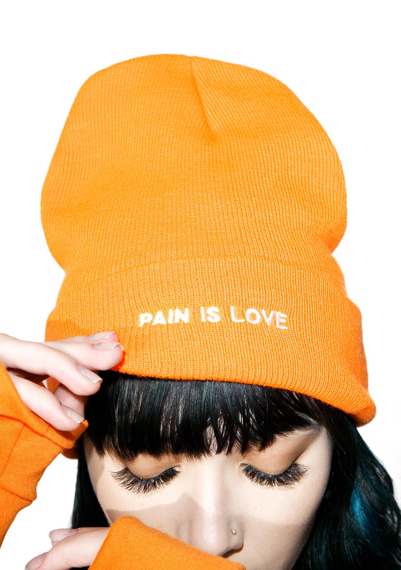Petals and Peacocks Pain Is Love Beanie