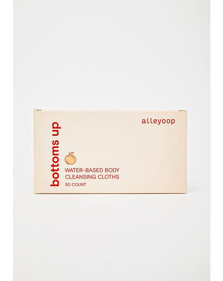 Bottoms Up Water-Based Body Cleansing Cloths