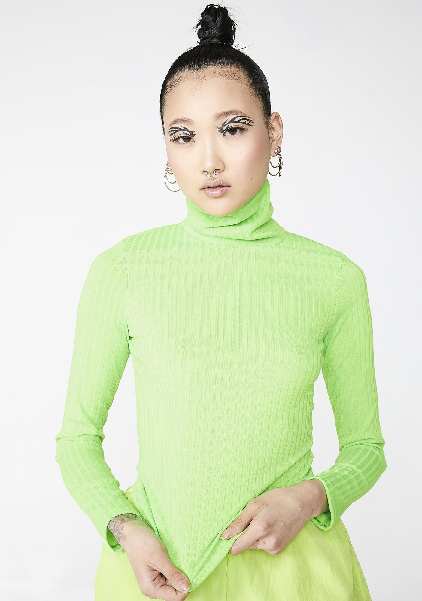 Atomic Babe Turtleneck Top by