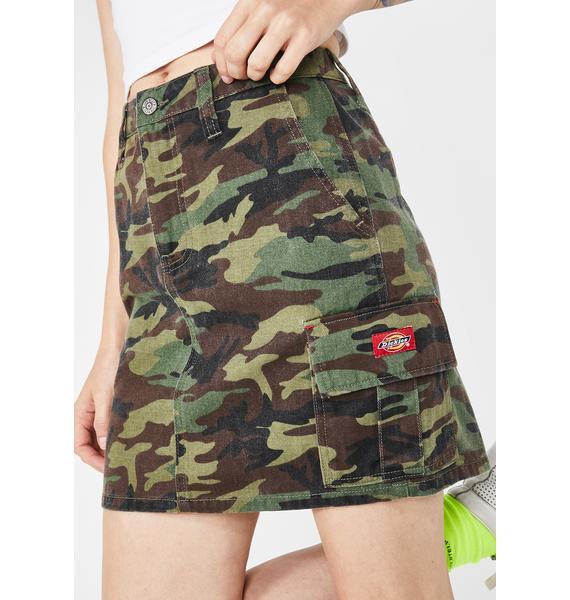 Dickies Girl Twill Camo Cargo Skirt